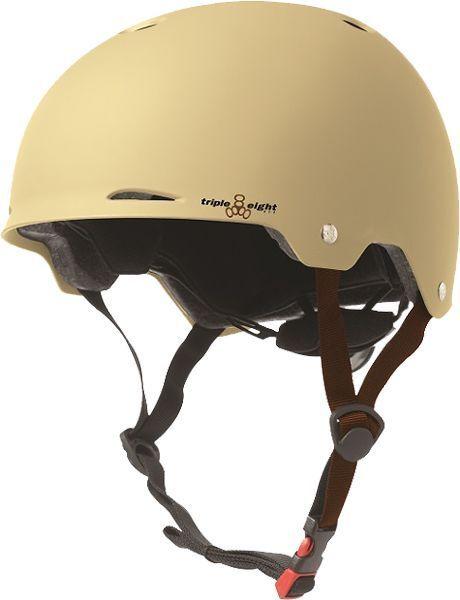 Triple 8 Gotham Helmet XS - SMALL Cream Matte Rubber Cpsc Astm