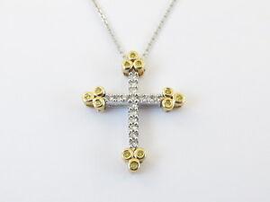 14k-Yellow-And-White-Gold-Diamond-Cross-Pendant-Necklace-Chain-18-034-0-25-carat