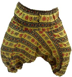 Om print Men Harem Pants Indian Genie Gypsy Hippie AliBaba Baggy Yoga Trousers