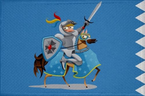 11 Fahne Flagge Aufbügler Patch 9 x 6 cm Aufnäher Ritter Motiv Nr