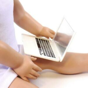 """White Laptop computer for Dolls made for 18/"""" American Girl Doll Clothes"""