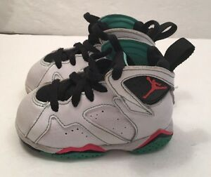 sports shoes 5d1e6 79ee0 AIR JORDAN 7 Retro Wht/Blk/Verde/Infrared Baby & Toddler US ...