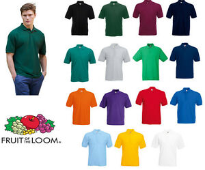 Fruit-of-the-Loom-65-35-Polo-All-Colours-amp-Sizes-Mens-Polo-T-Shirt-Size-S-M-L-XL