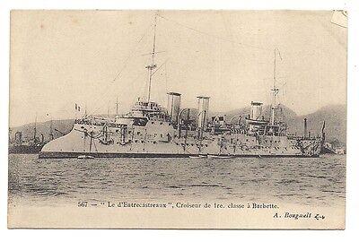 """"""" Le D'entrecastreaux """" , Croiseur De 1ere Classe à Barbette Goede Warmteconservering"""