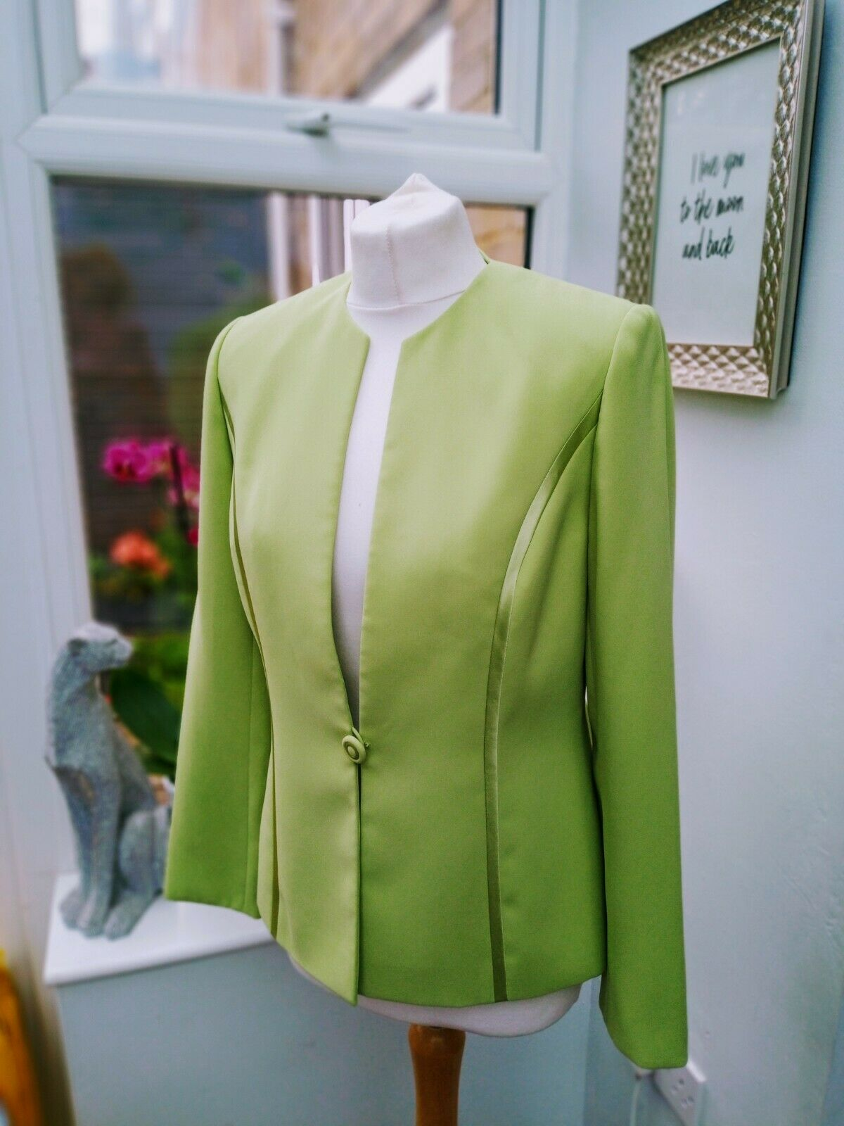 BNWOT Jacques Vert Lime Green Jacket Size 10 Mother Of The Bride Office Smart