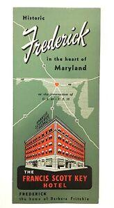 Francis Scott Key Hotel Frederick MD Brochure Advertising Ephemera 1950's NICE