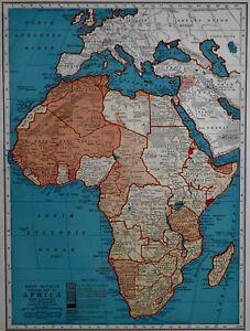 RARE Vintage 1941 Atlas Map World War WWII Africa & Europe ...