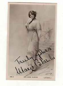 MISS-MARIE-BLANCHE-AUTOGRAPHED-SIGNED-OLD-REAL-PHOTO-POSTCARD