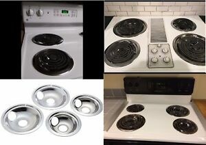 Image Is Loading 4 Electric Stove Drip Pans Burner Set Frigidaire