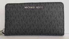 Michael Kors Jet Set Travel Large Flat Multifunction Phone Case Wallet Black
