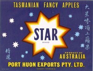 SALE-Vintage-Tasmania-Apple-Case-Labels-Fruit-Art-Poster-034-baker-039-s-dozen-034-N-13