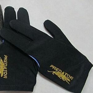 Unisex-Black-Spandex-Snooker-Billiard-Cue-Glove-Pool-Left-Hand-Three-Finger-TOP