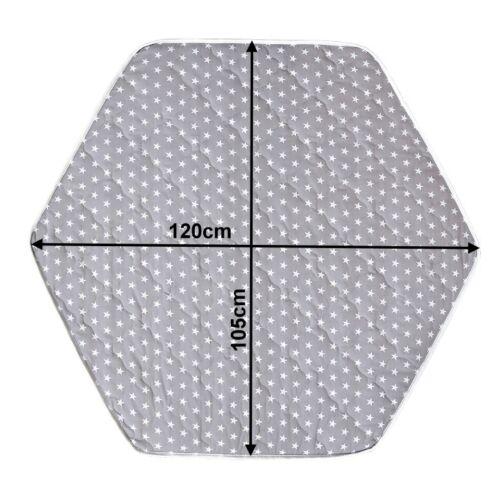 Laufgittermatratze Laufgittereinlage Matratze Bunt Gesteppt für 6-Eck Laufstall