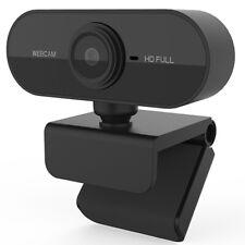 Full HD PC Webcam 1080p Microphone USB Plug & Play 360 Rotation Auto Focus NEW