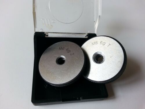 M6 x 1 Right hand Thread Ring Gage Gauge Set M6 x 1mm