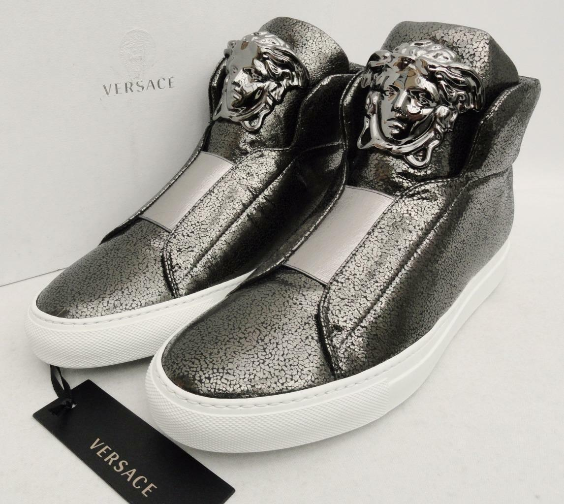 VERSACE Leather Medusa sneakers Trainers UK4 IT 37 New Perfect Gift Auth