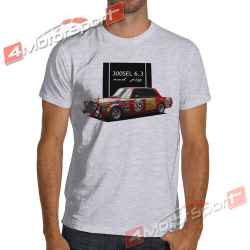 Mercedes 300 SEL 6.3 1971 Red Pig Rally Racing T-Shirt 24 Hours of Spa wrc