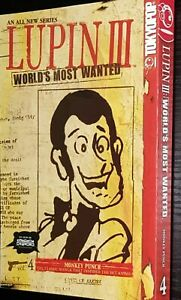LUPIN-III-WORLD-039-S-MOST-WANTED-VOLUME-4-Tokyopop-USA-2005-Manga-TP-SC-GN