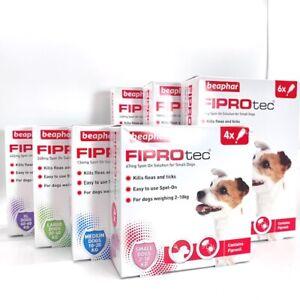 Beaphar FIPROtec Spot On DOG Treatment | Small, Medium, Large Dog | 4/6 Pipettes