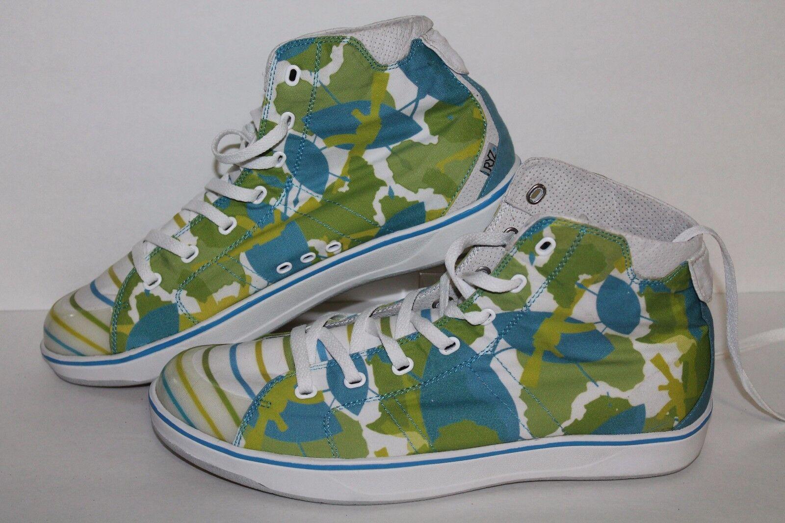 RYZ High Casual Sneakers, Wht/Blue/Green, Men's US Size 12