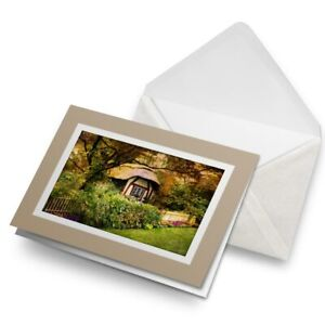 Greetings-Card-Biege-Enchanted-English-Forest-Cottage-16372