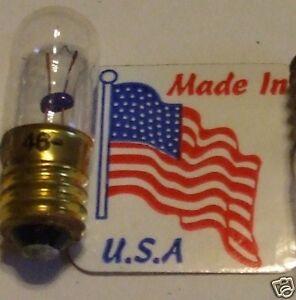 No-46-6-8-v-NOS-USA-Delco-Radio-Dial-Lamp-Vintage-MES-Screw-Brass-Bulb-Free-Ship