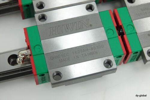 HIWIN NNB QHW25CC+880L THK SHS25C Type HGR25 Linear Actuator Bearing CNC 2R 4B