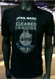 Star-Wars-Galaxy-s-Edge-Opening-day-AP-Exclusive-T-Shirt-L-Disneyland-Shirt-RARE