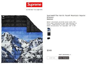 054cdf447 Details about supreme x the north face mountain nuptse blanket deadstock