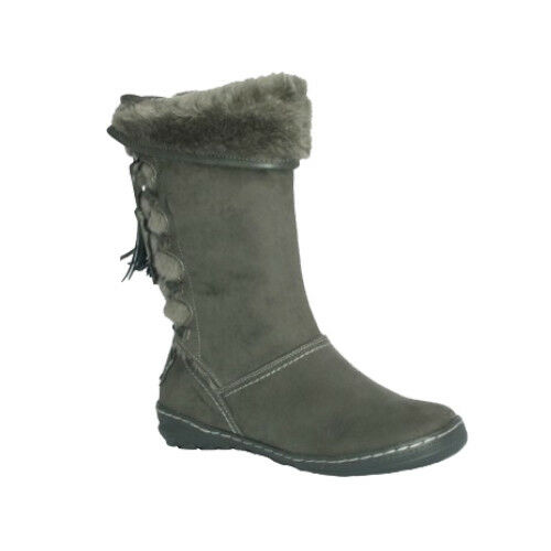 Boots Pixie Rrp Mid Pair Fur Size Grey 5 Lined heel Suede £70 Heidi Fully Last 8rqwZ84