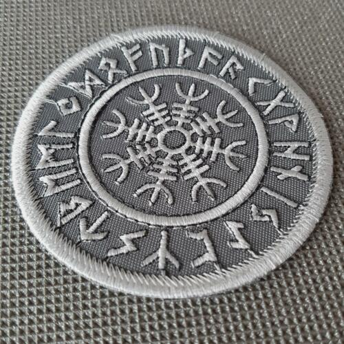 Aegishjalmur magique Douve Helm of awe runique Viking Norse ACU sew iron on patch