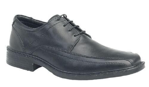 """Roamers M726 bout carré /""""léger/"""" 4 Eye Jalonnage Panel Tie Up Chaussures Noir Le"""