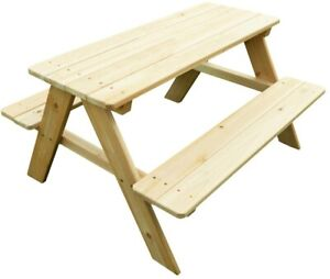 Excellent Details About Wood Picnic Table Bench Seat Kids Furniture Rustic Indoor Outdoor Rectangular Creativecarmelina Interior Chair Design Creativecarmelinacom