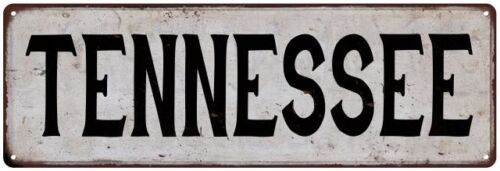 TENNESSEE Vintage Look Rustic Metal Sign City State 106180041215
