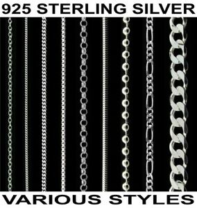 Sterling-Silver-925-Italian-Anklet-Bracelet-Choker-Necklace-Body-Chain-Jewellery