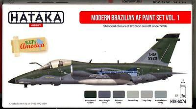 Hataka Hobby Paints MODERN BRAZILIAN AIR FORCE COLORS Set #1 Acrylic Paints