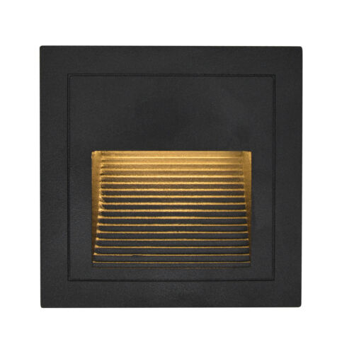 6 x 3W LED Wandeinbauleuchte Stufenlicht Treppenlicht Alu Außen Warmweiß 230V