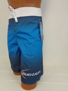 136b164e6b7af Bud Light Beer Board Shorts Men's Swim Trunk Swimwear Bud Logo | eBay