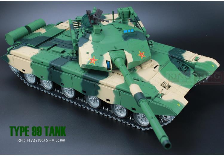 Actualización 2.4 GHz acústica de humo constante RC 99 modeloo de tanque de combate de la RC