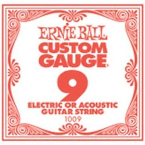 Ernie Ball EB1009 Slinky Plain .009 6-er Pack Einzelsaiten f E-GitarreNeu