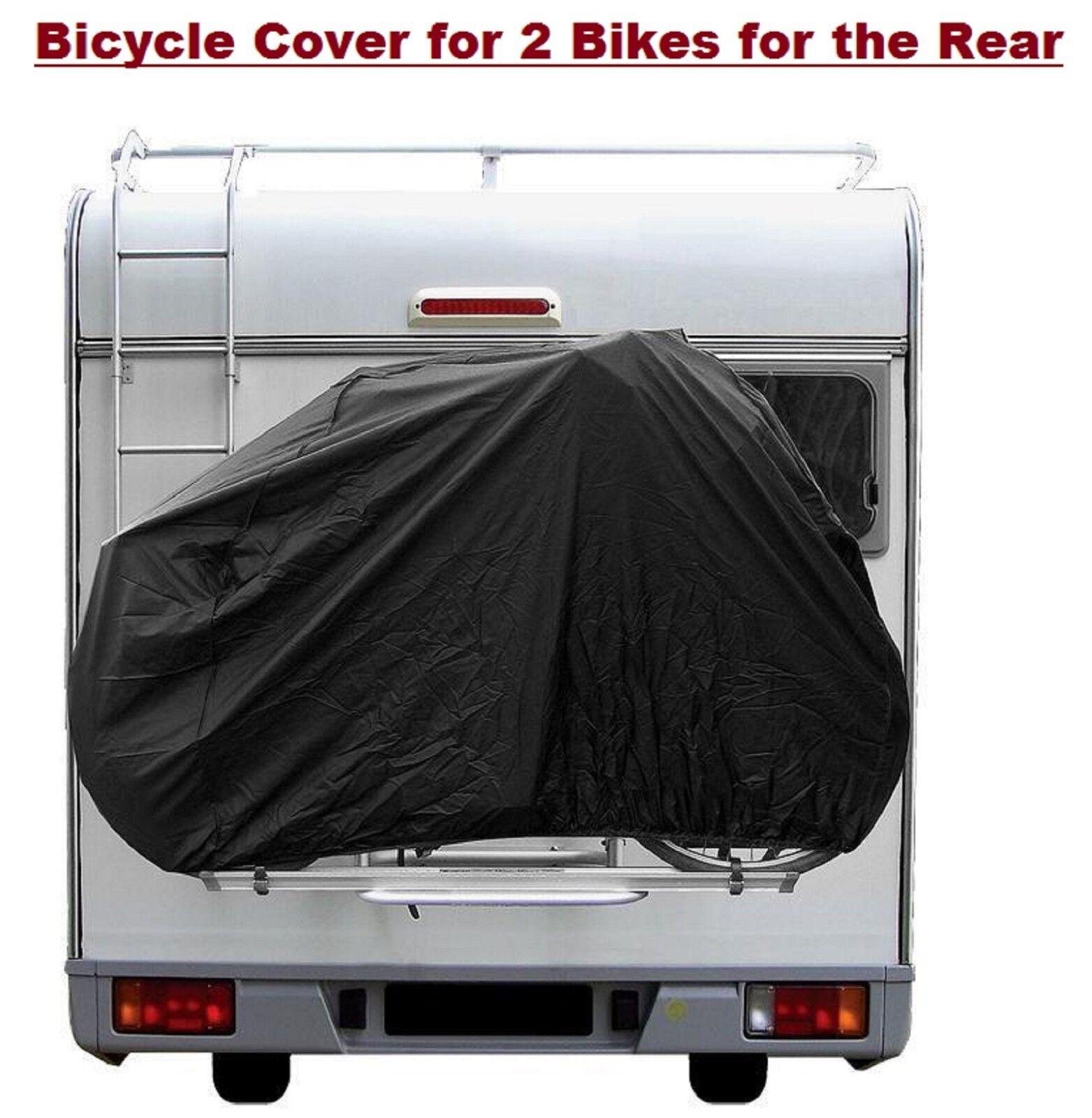 PROPLUS Bicycle Cover Caravan Camper Rear for 2 Bikes Waterproof Nylon Cover