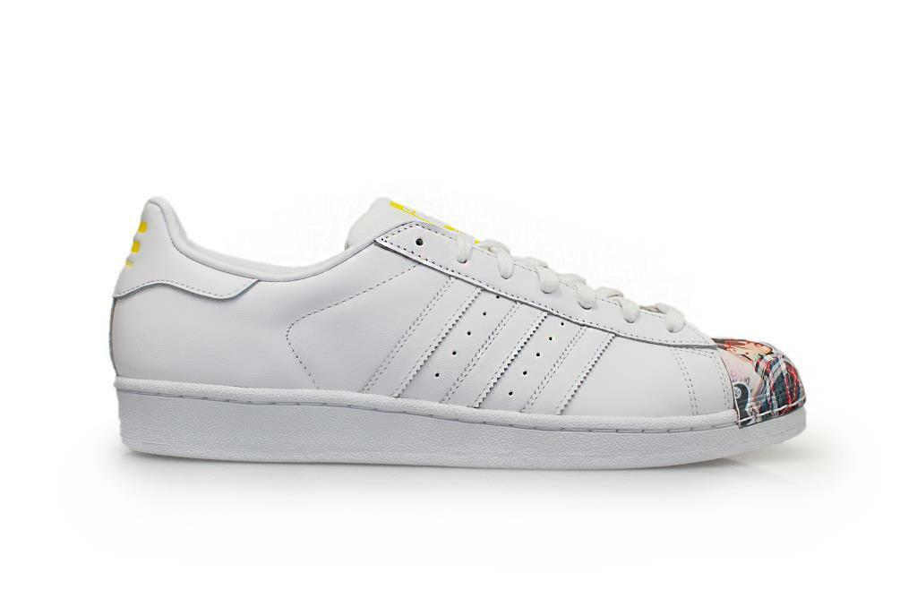 Hombre Adidas Superstar Pharrell Supersh -s83363-blancoo Amarillo Zapatillas