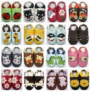 acheter en ligne 75757 2287d Détails sur MiniShoeZoo Chaussons bébé CUIR SOUPLE POUR CHAUSSURES