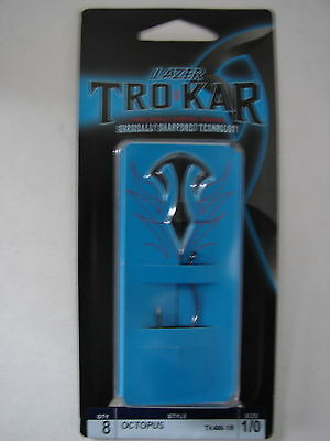 Lot Of 2 Packs 11 Eagle Claw Tro Kar Lazer Octopus Fishing Hooks Size 6 TK400-6