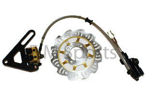 Dirt Pit Bike Parts Rear Hydraulic Brake Caliper w Pads Disk 110cc ... 576435fab6d7