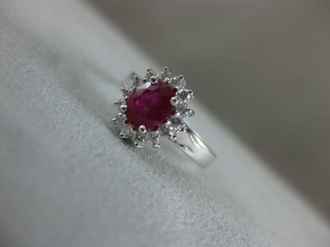 ESTATE 1.42CTW DIAMOND RUBY 18KT WHITE GOLD LADY … - image 10