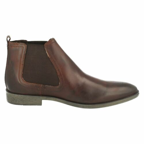 Mens Base London Saffron Black Or Brown Waxy Leather Smart Chelsea Boots