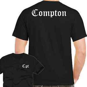 Men-039-s-T-Shirt-Compton-CPT-nwa-hip-hop-Eazy-E-gangster-tee-Street-Front-Back