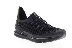 Puma-Ignite-Limitless-Netfit-Staple-Mens-Black-Mesh-Low-Top-Sneakers-Shoes-11-5