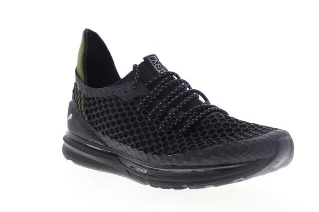 Puma Ignite Limitless Netfit Staple Mens Black Mesh Low Top Sneakers Shoes 11.5